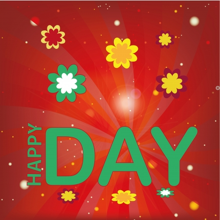 a happy day message in a spiral background Vector
