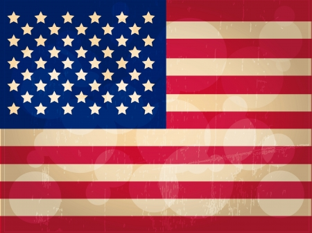 visions of america: the united states flag with its respective colors