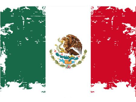 mexican flag: la bandiera messicana con i rispettivi colori