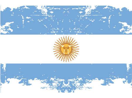 the flag from argentina with its respective colors Vector
