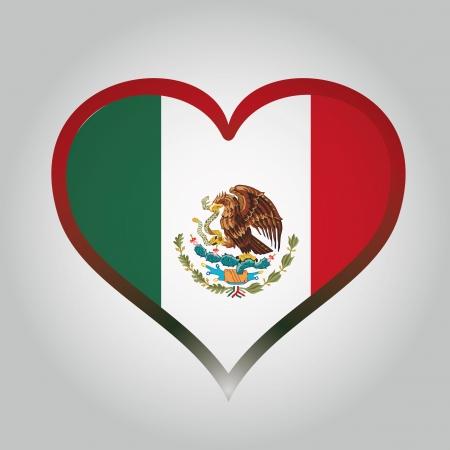 mexican flag: la bandiera messicana con il rispettivo colore