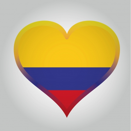 southamerica: the colombian flag with its respective colors Illustration
