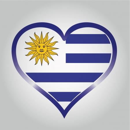 bandera de uruguay: la bandera de Uruguay con sus respectivos colores