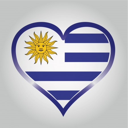 southamerica: the flag from uruguay with its respective colors
