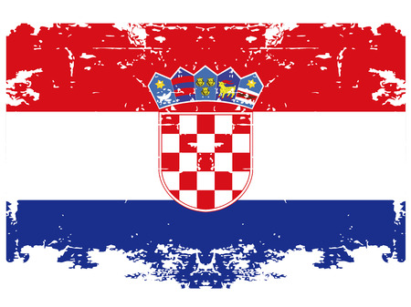 the croatian flag with its respective colors Vector
