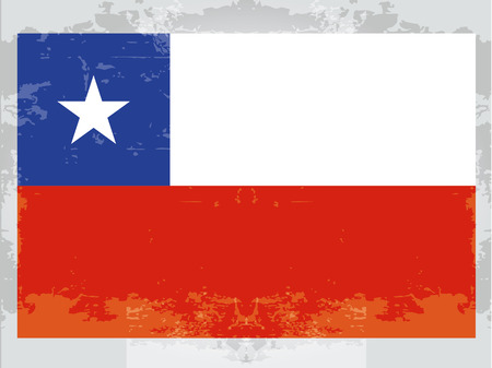 southamerica: the flag from chile with its respective colors  Illustration