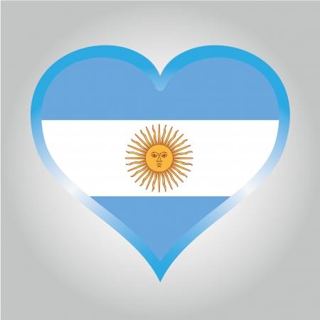 copas: la bandera de la Argentina, con sus respectivos colores Vectores