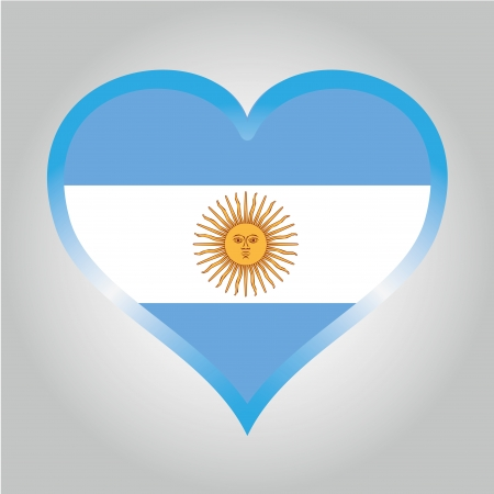 the flag from argentina with its respective colors
