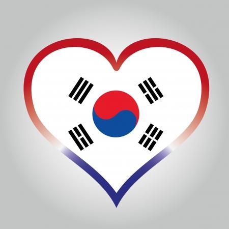 Flaga Korei Południowej z jej odpowiednich kolorach Ilustracja