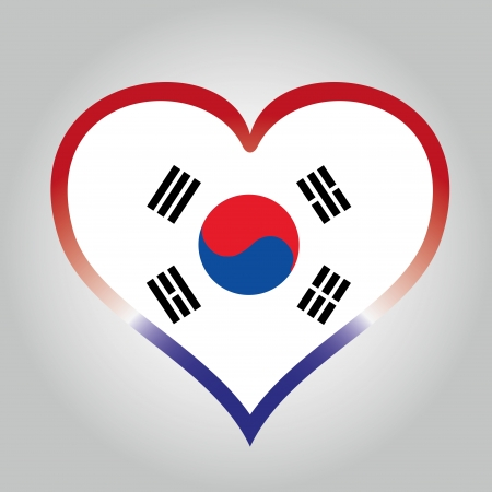 the south korean flag with its respective colors