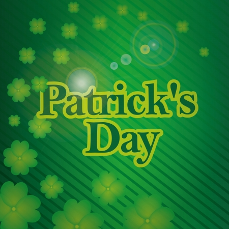 some text for st patrick day in a striped background with clovers Vector