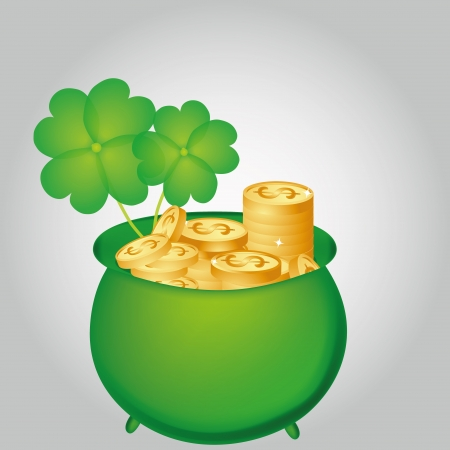 a lot of golden coin for st patrick day Vector