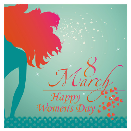 Women's health: a blue background with some text for womens day