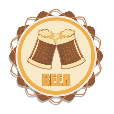 beers: a colored icon with a couple of beers and text
