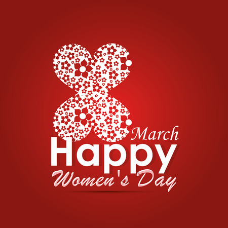 a beautiful and colorful background for womens day Vector