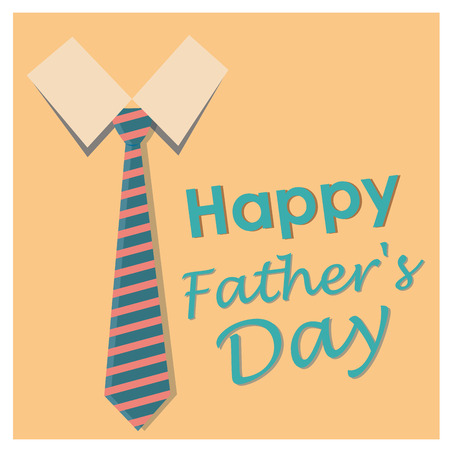 a yellow background with some blue text and a necktie for fathers day