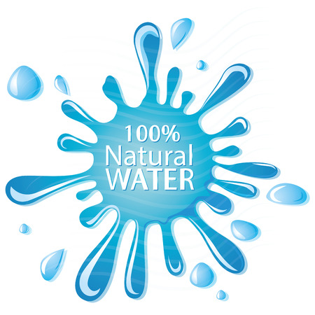 some white text and drops of mineral water