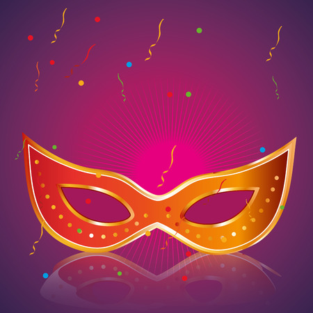 a colored carnival mask in a colored background Vector