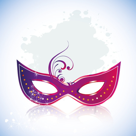 a purple carnival mask with some ornaments in it Vector