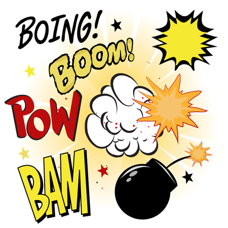 boing: a lot of comic expressions related to explosions