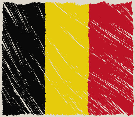 belgium: the flag of belgium with some grunge textures