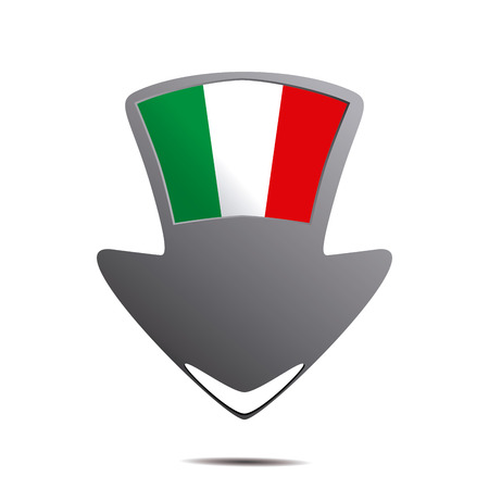 geolocation: a pin with the italian flag and its respective colors