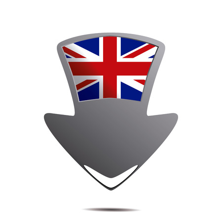 geolocation: a pin with the flag of united kingdom and its respective colors