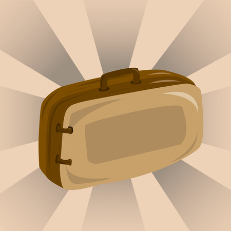 a brown bag in a brown background Illustration