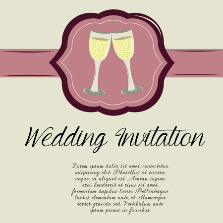 a white label with a pair of cocktails and text Vector