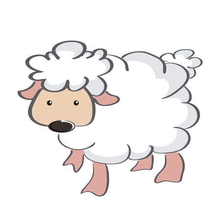 an isolated cheep on a white background Vector