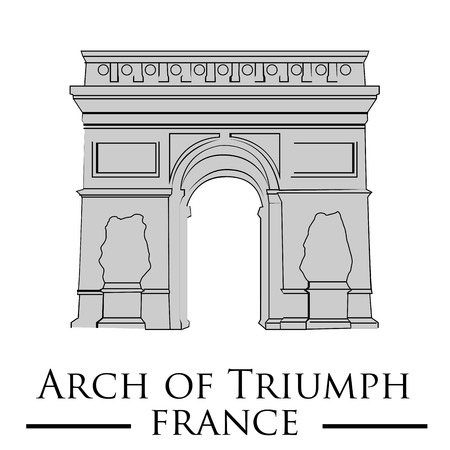 an isolated arch of triumph on a white background