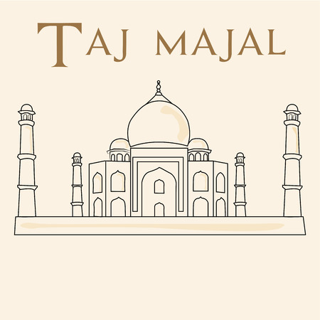 a sketch of the taj majal on a white background