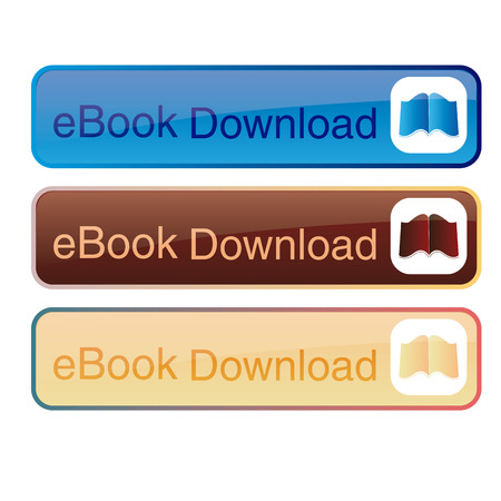a group of banners with text and ebooks Vector
