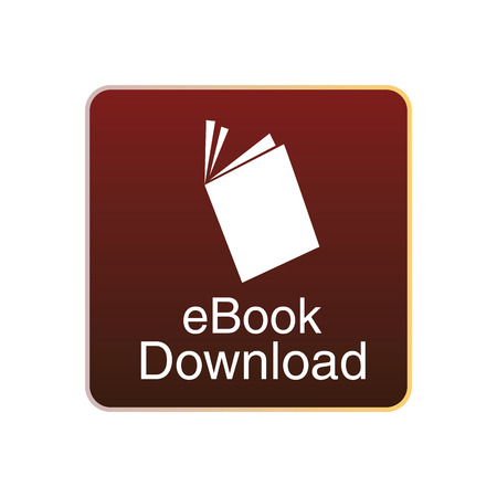 a red squared icon with a white silhouette of an ebook Vector