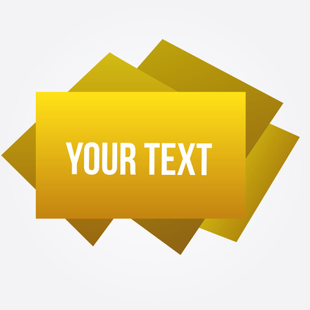 a yellow stick note with text on a white background Vector