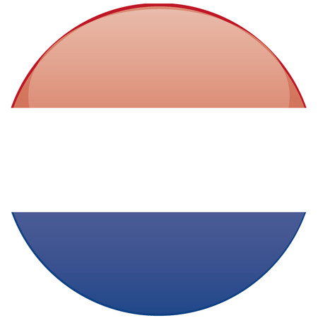 a round badge with the flag of netherlands on a white background