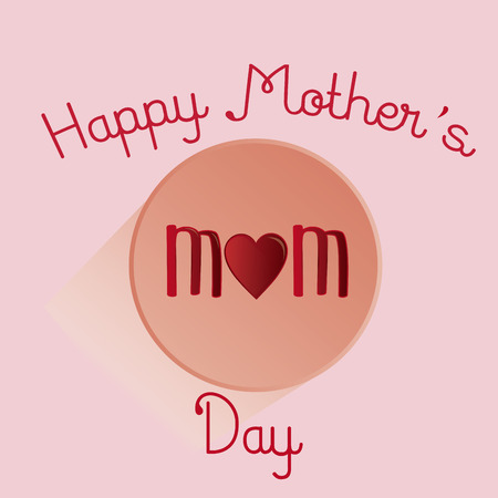 an isolated button with text for mothers day Vector