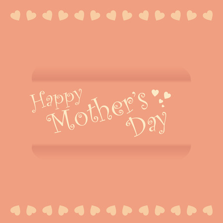 a pink background with text and hearts for mothers day Vector