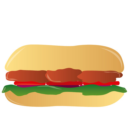 sandwich white background: an isolated sandwich on a white background Illustration