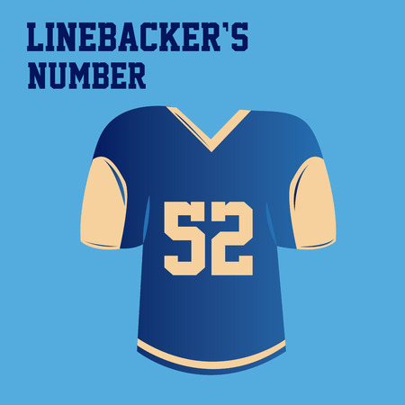 blue shirt: an isolated blue shirt with the linebackers number