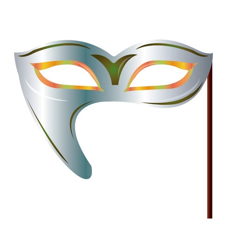 mardi grass: an isolated carnival mask on a white background Illustration