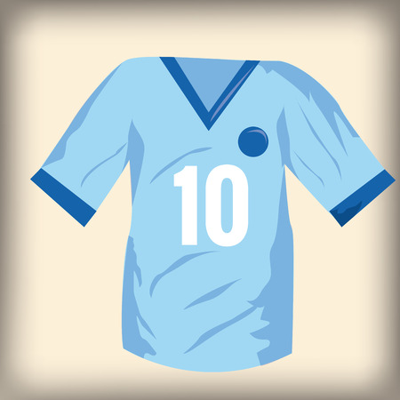 number ten: an isolated soccer shirt with the number ten on a colored background Illustration