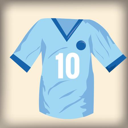 number ten: una camisa de f�tbol aislado con el n�mero diez en un fondo de color