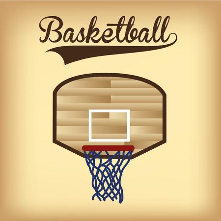 basketball net: una canasta de baloncesto aislados y texto sobre un fondo de color