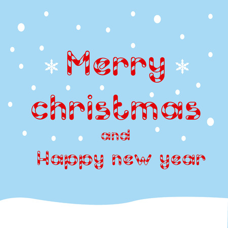 happy new year text: a blue background with text for christmas and happy new year