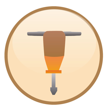 driller: an isolated construction label with a driller icon