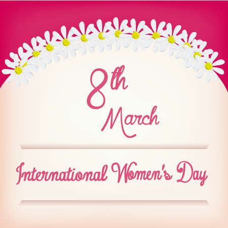 a colored background with text and flowers for womens day