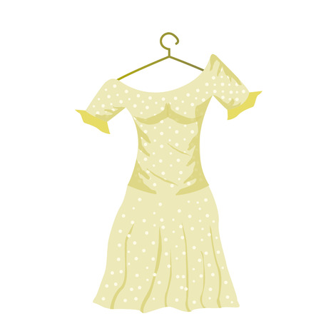 yellow dress: an isolated yellow dress for women on a white background