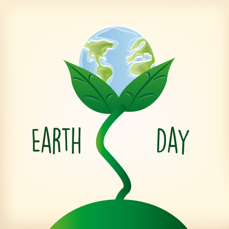 a light yellow background with text and our planet in a flower