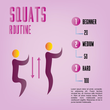 a pink background with text and fitness icons Vector